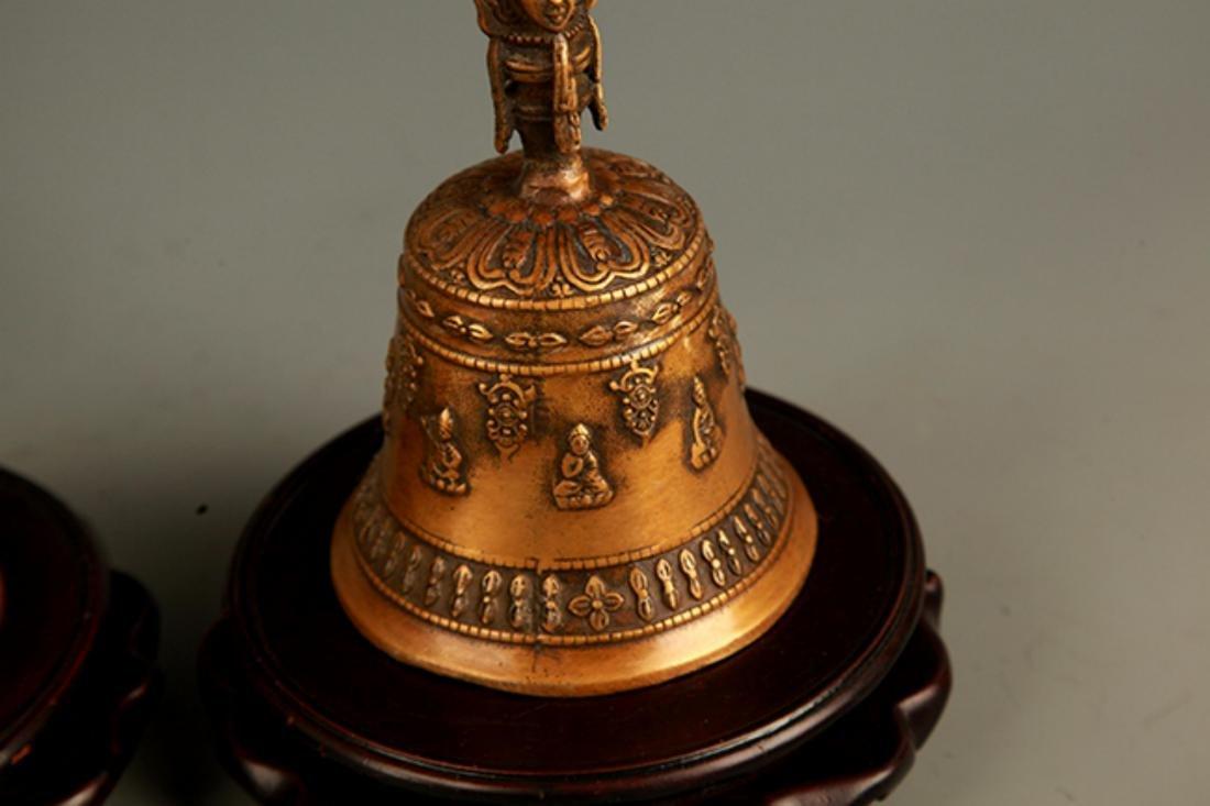 TIBETAN BUDDHISM BRONZE BELL - 3