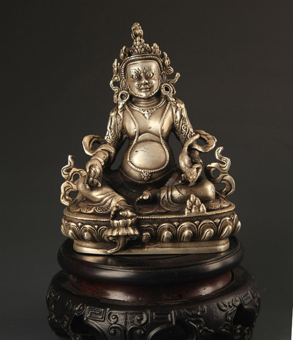 A TIBETAN BUDDHISM JAMBHALA STATUE