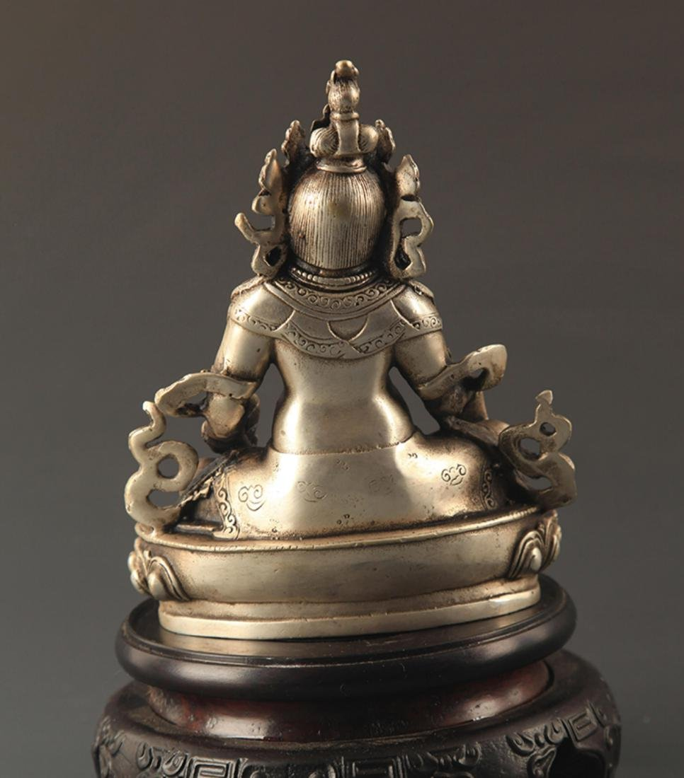 A TIBETAN BUDDHISM JAMBHALA STATUE - 4