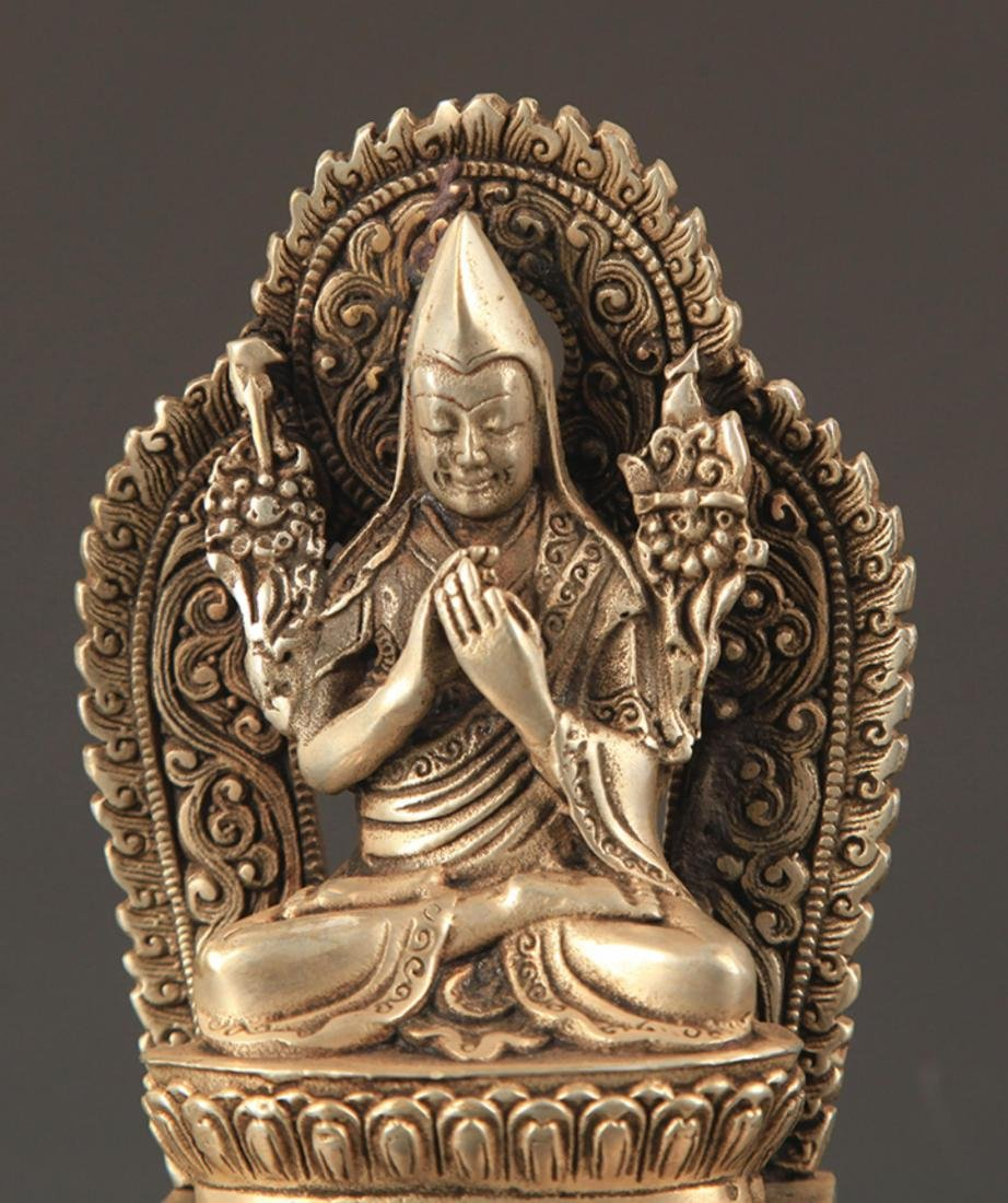 A TIBETAN BUDDHISM ZONGKABA STATUE - 2