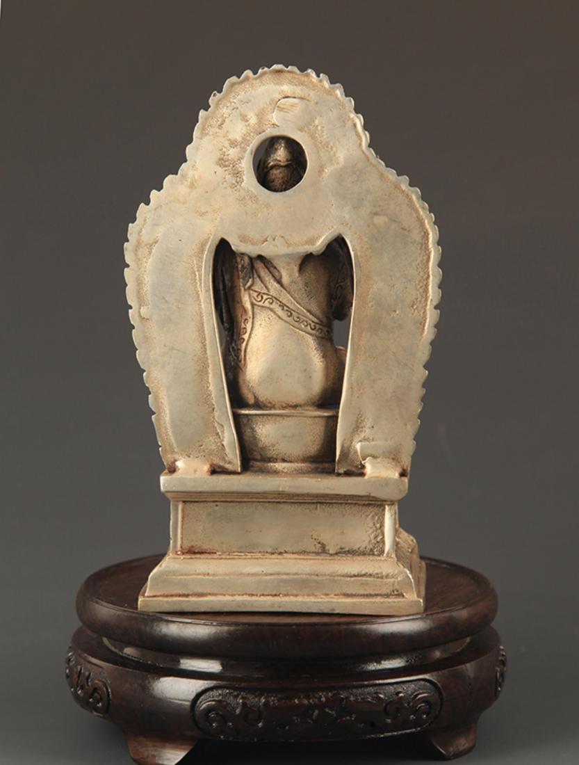 A TIBETAN BUDDHISM ZONGKABA STATUE - 4