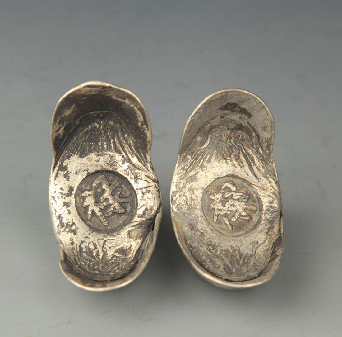 "PAIR OF SILVER INGOT WITH ""LU"" MARK - 2"
