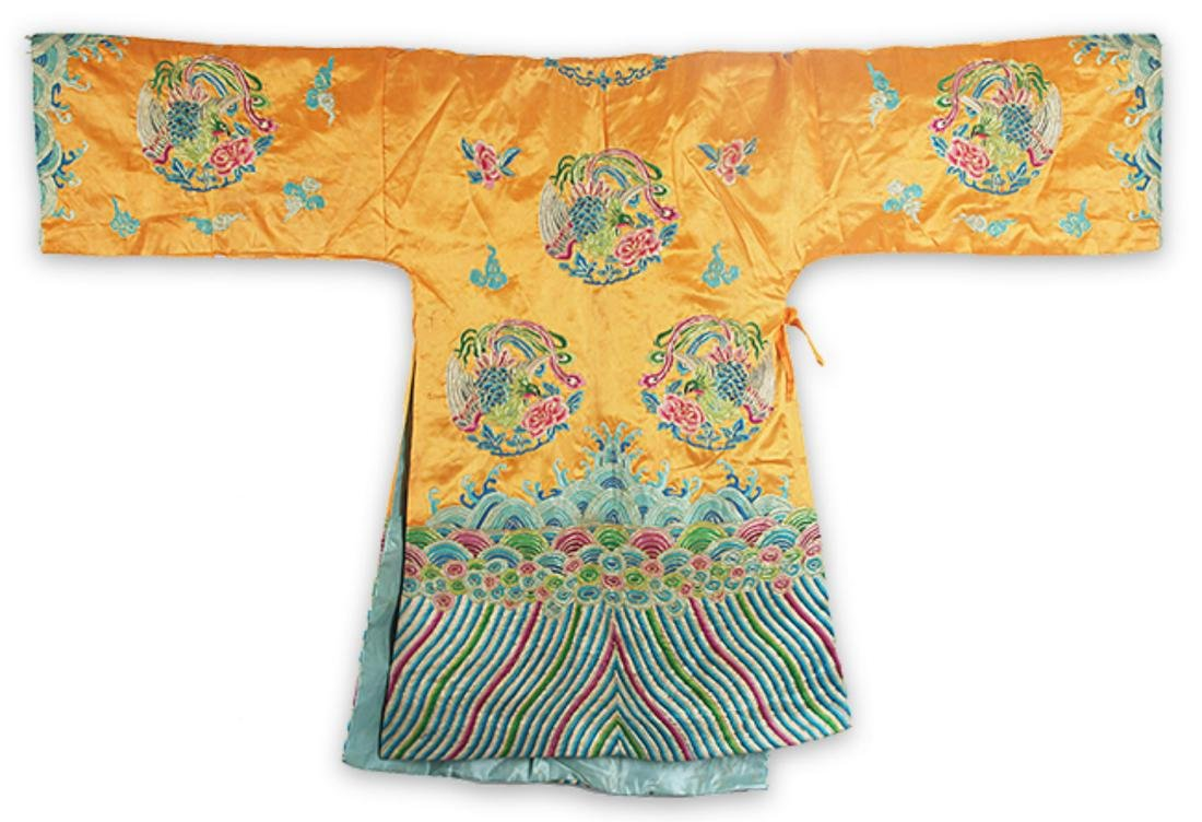 A FINE HAND MAKING DRAGON EMBROIDERED ROBE - 5
