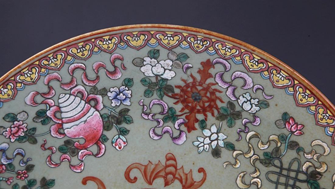 GROUP OF TWO FINELY PAINTED PORCELAIN PLATE - 10