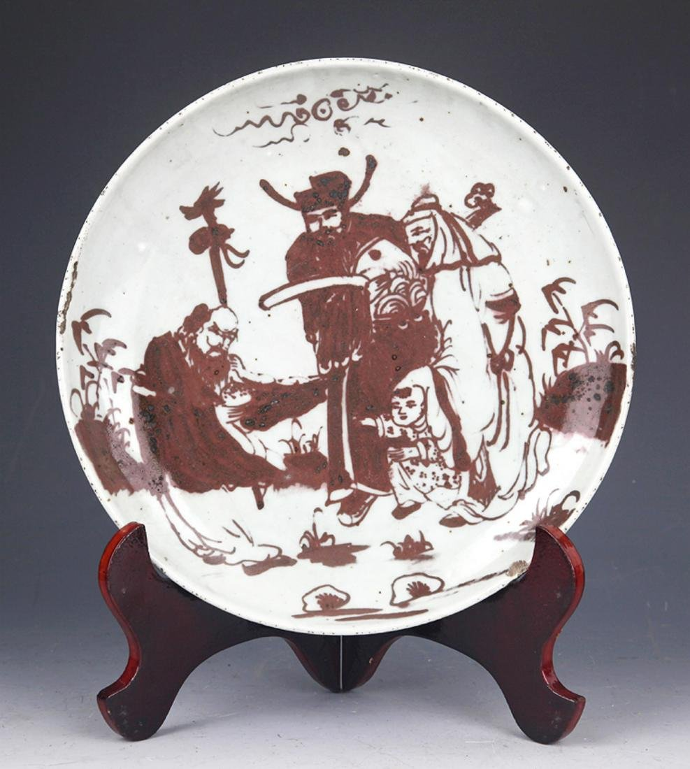 GROUP OF TWO FINELY PAINTED PORCELAIN PLATE - 5