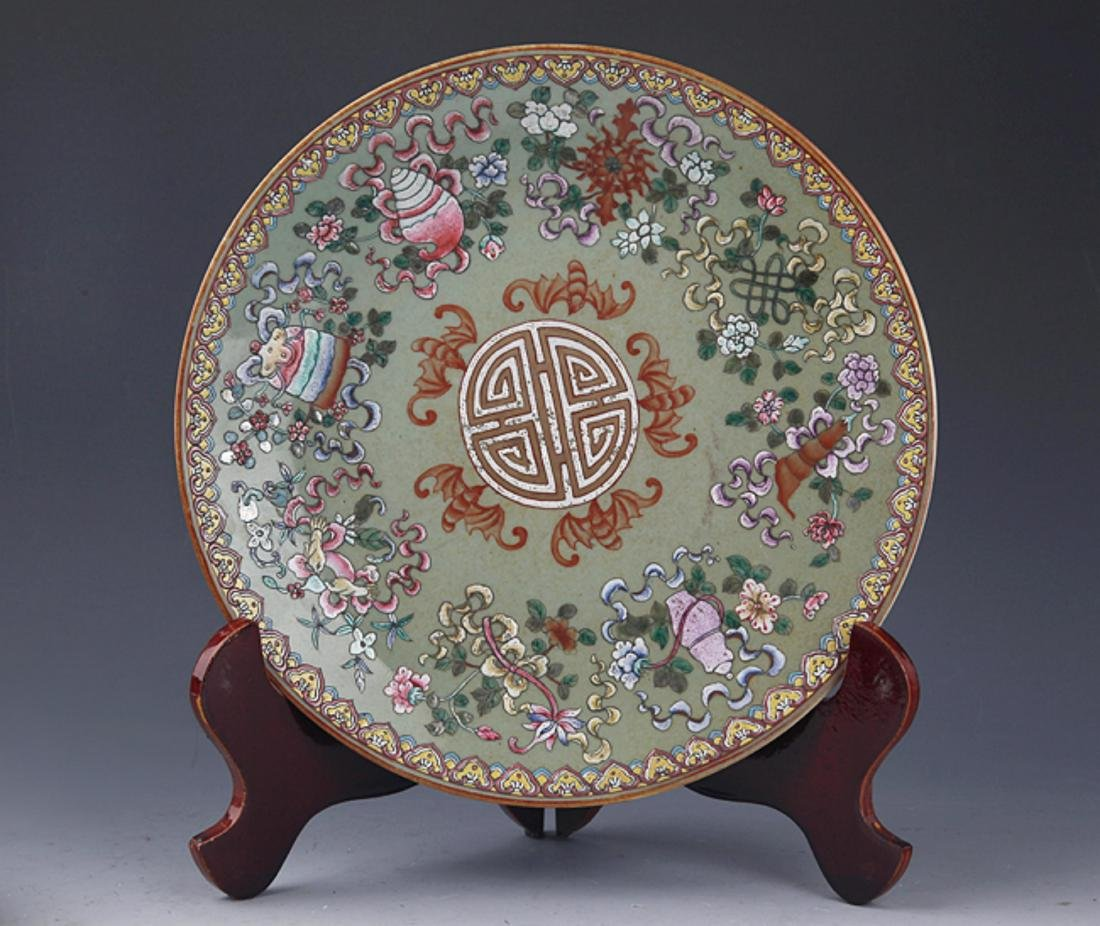GROUP OF TWO FINELY PAINTED PORCELAIN PLATE - 9
