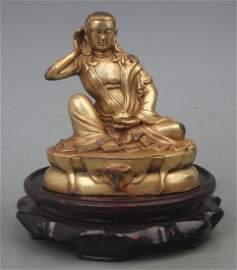 A FINE GILT BRONZE MIRA MONTH PAKISTAN BUDDHA FIGURE
