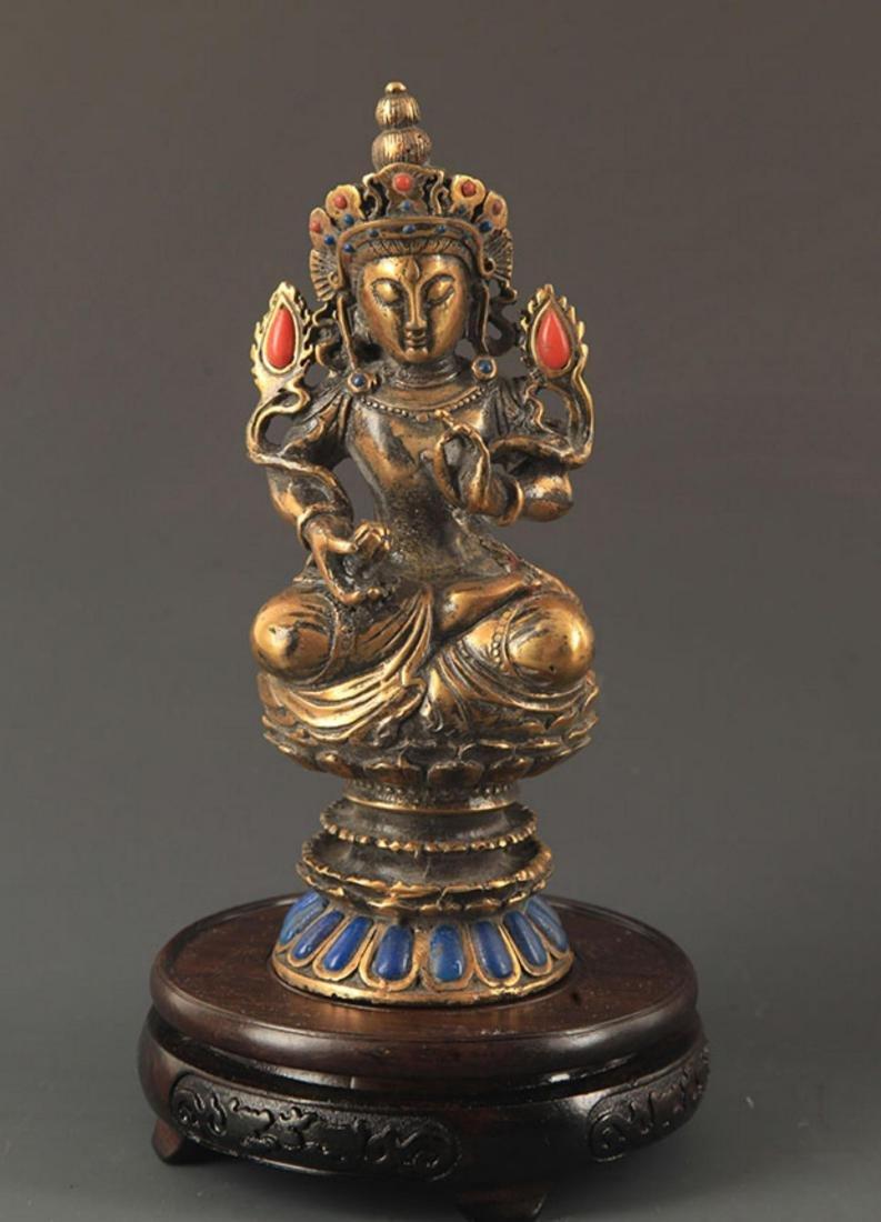 A MANJUSHRI BUDDHA FIGURE