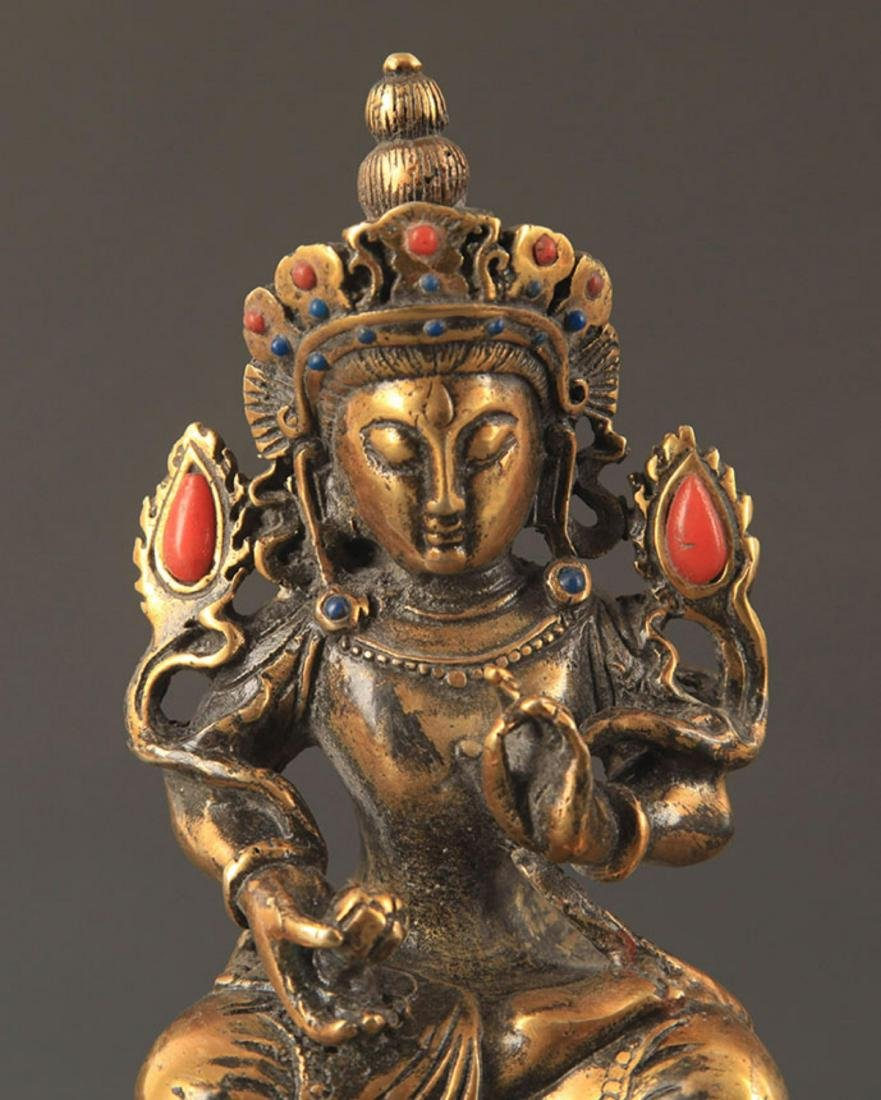 A MANJUSHRI BUDDHA FIGURE - 2