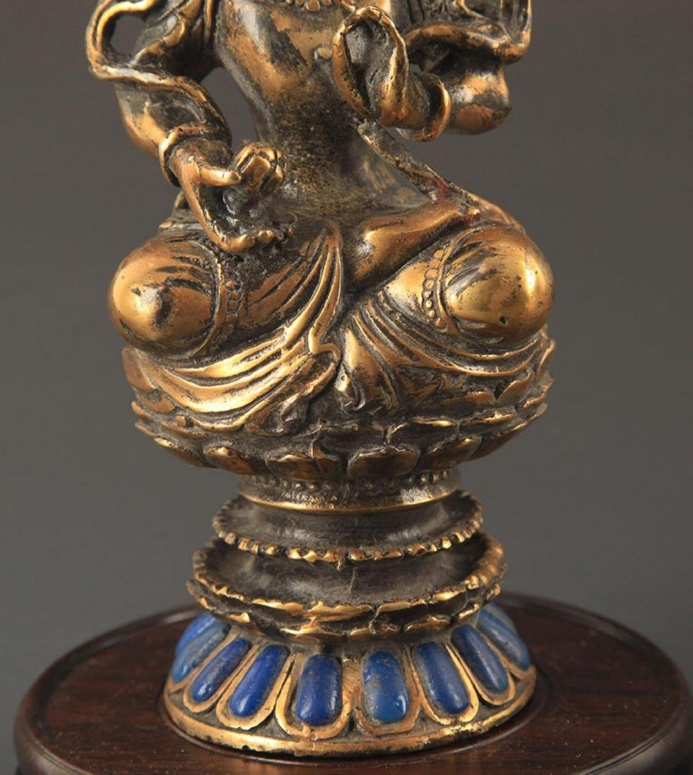 A MANJUSHRI BUDDHA FIGURE - 3