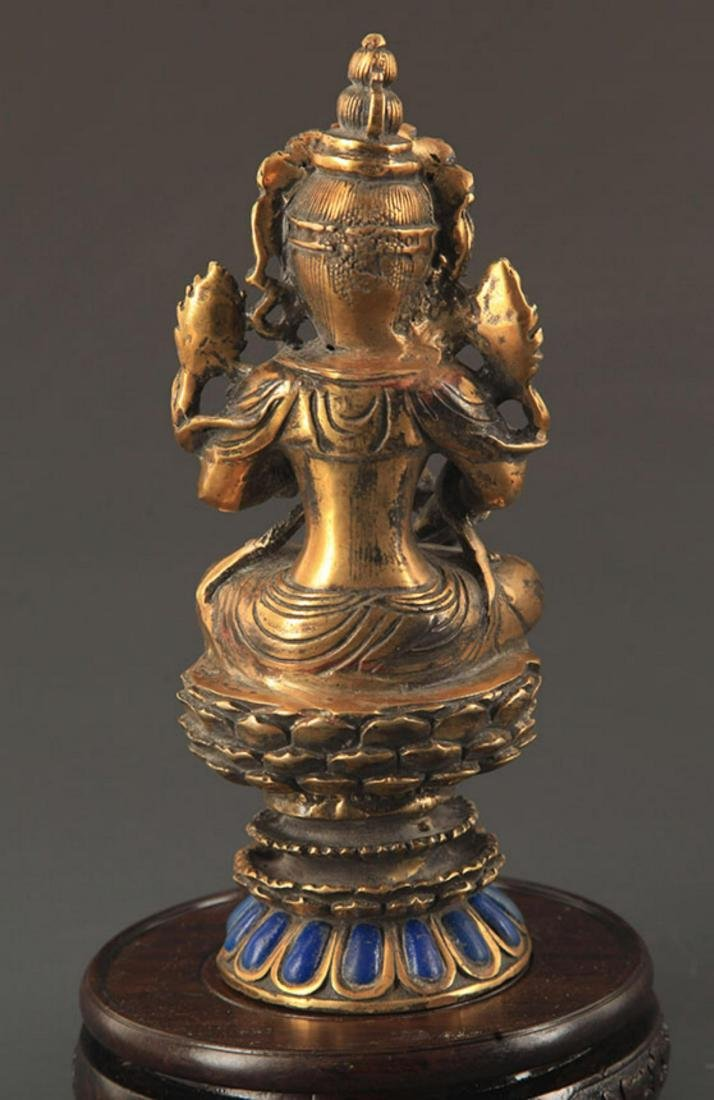 A MANJUSHRI BUDDHA FIGURE - 4
