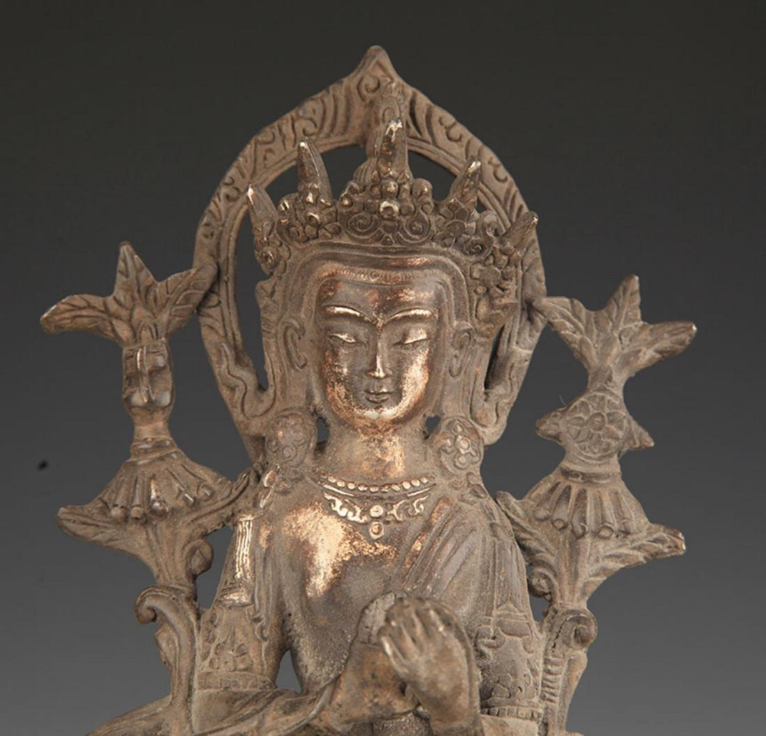 A SILVER COVER MAITREYA BUDDHA STATUE - 2