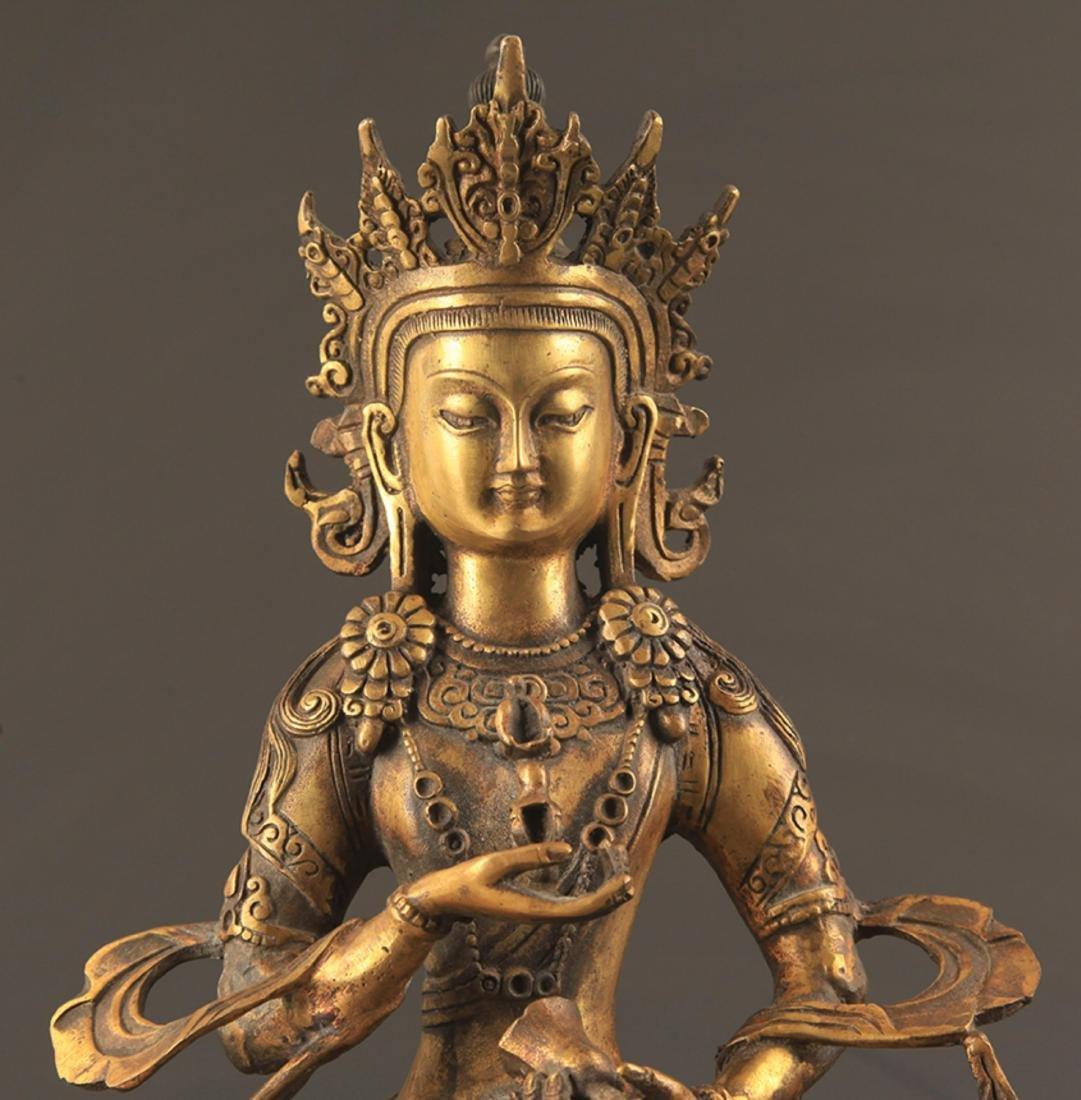 A FINELY CARVED TIBETAN VAJRASATTVA BUDDHA - 2