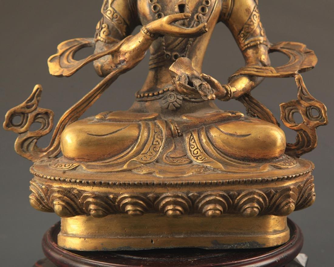 A FINELY CARVED TIBETAN VAJRASATTVA BUDDHA - 3