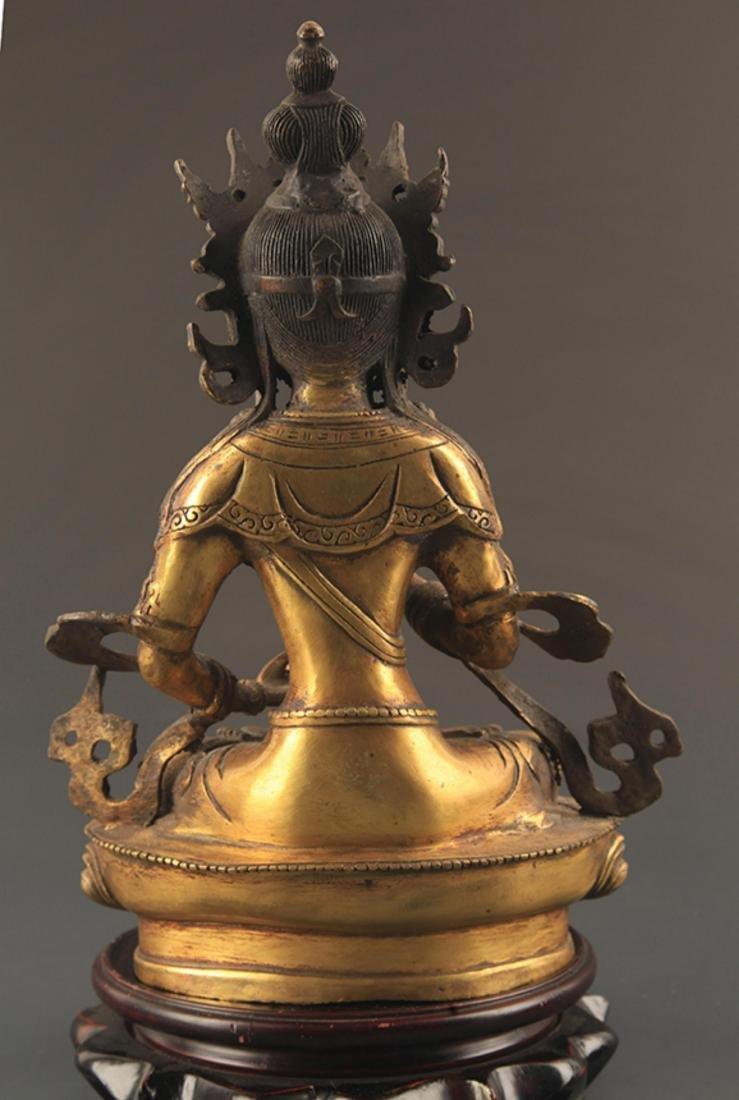 A FINELY CARVED TIBETAN VAJRASATTVA BUDDHA - 4