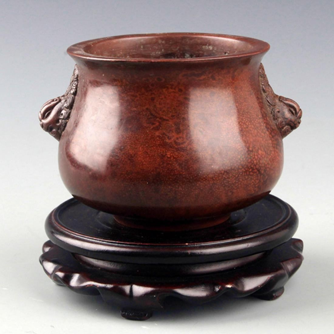 "A FINELY MADE BRONZE ""GUI"" STYLE CENSER"