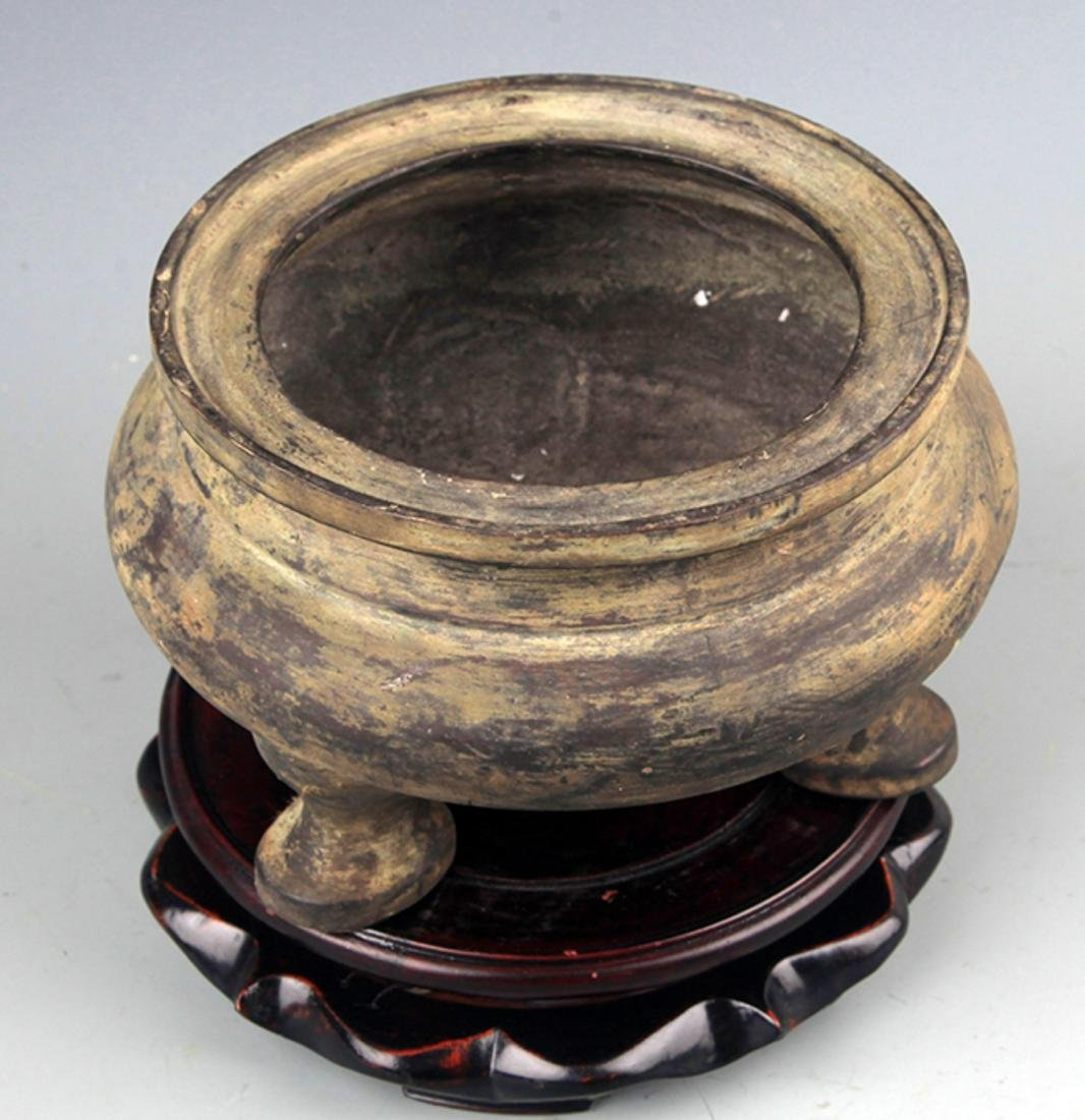 """A LARGE """"GE"""" STYLE BRONZE CENSER - 2"""