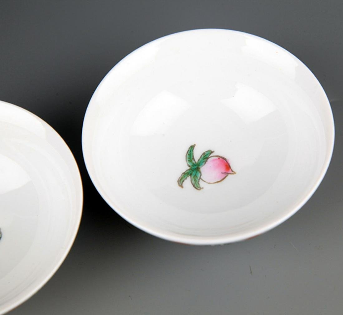 A GROUP OF FOUR FAMILLE-ROSE PORCELAIN BOWL - 5