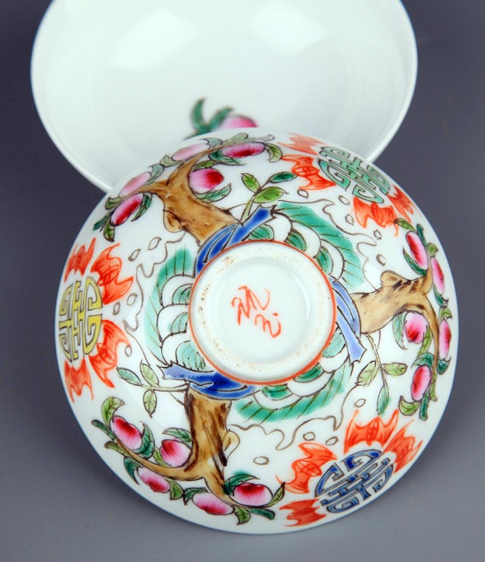 A GROUP OF FOUR FAMILLE-ROSE PORCELAIN BOWL - 6
