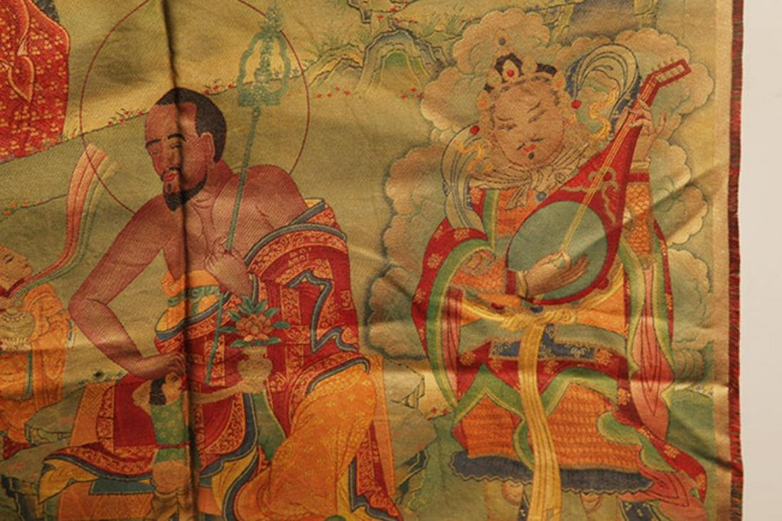 A FINE BHAISAJYAGURU BUDDHA ON FABRIC - 4