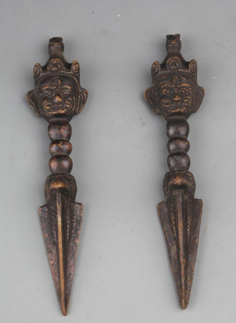PAIR OF TIBETAN VAJRA - 2