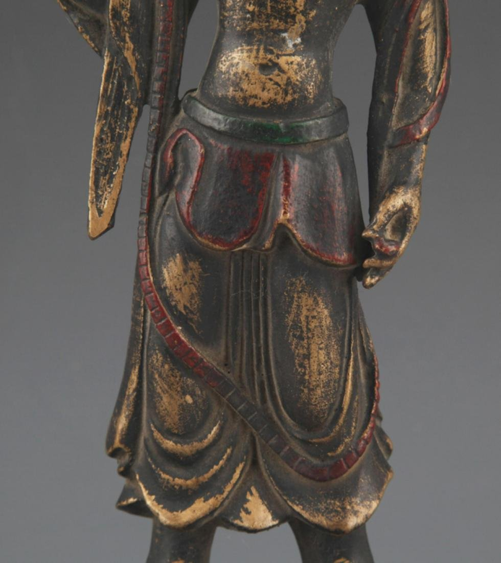 A FINELY CARVED BRONZE BUDDHA STATUE - 3