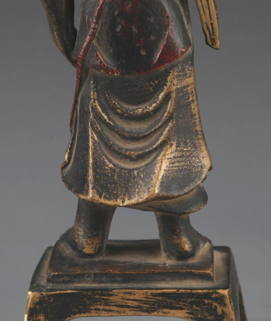 A FINELY CARVED BRONZE BUDDHA STATUE - 7