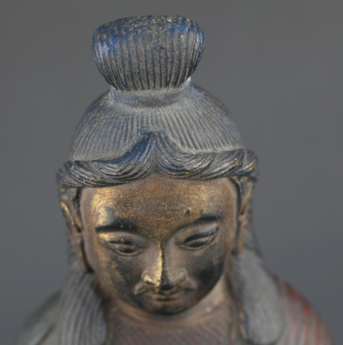 FINELY CARVED BRONZE FEMALE GUAN YIN - 2