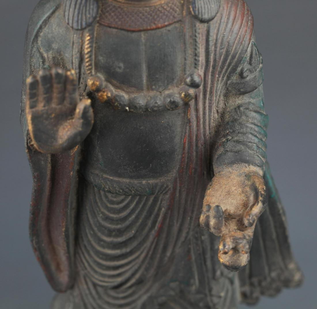 FINELY CARVED BRONZE FEMALE GUAN YIN - 3