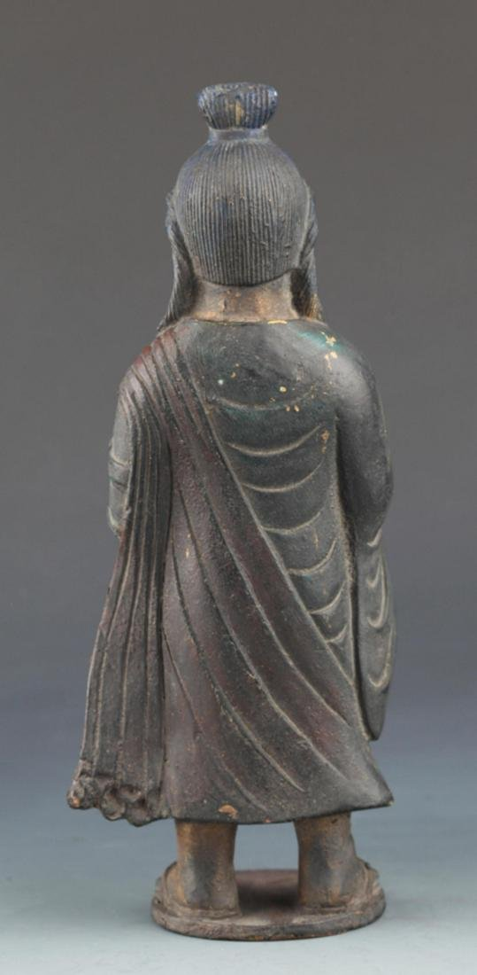FINELY CARVED BRONZE FEMALE GUAN YIN - 5
