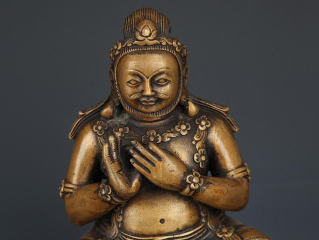 A LIFE LIKE BRONZE BUDDHA MODEL - 2