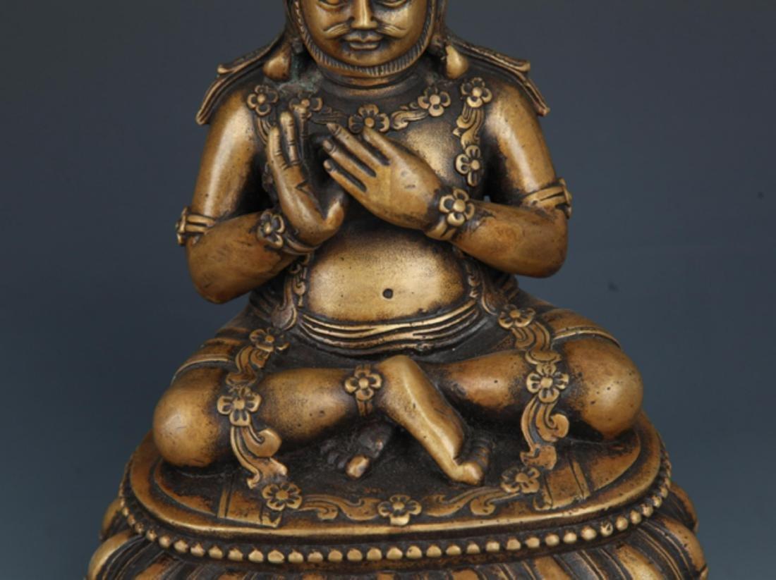 A LIFE LIKE BRONZE BUDDHA MODEL - 3