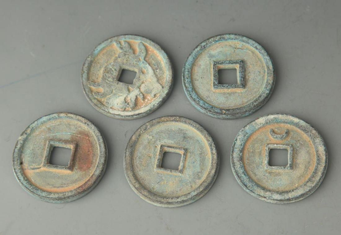 GROUP OF FIVE OLD CHINESE COIN - 2