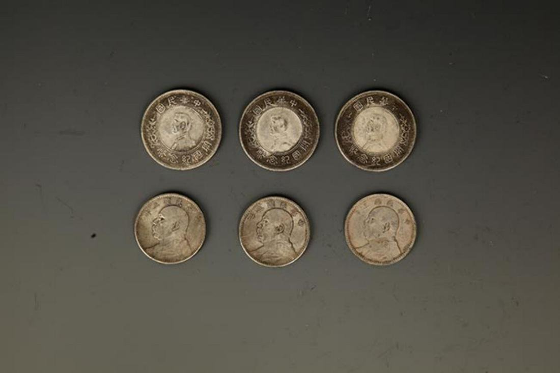 GROUP OF SIX CHINESE COIN