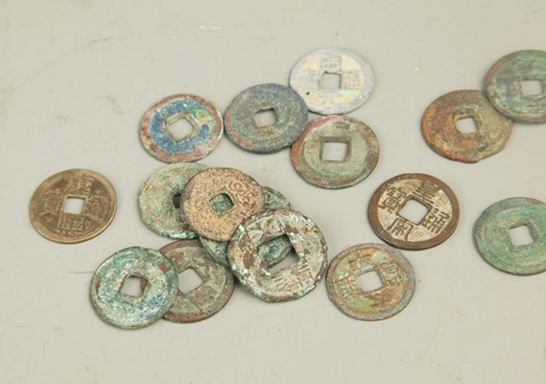 GROUP OF ANTIQUE CHINESE COIN - 4