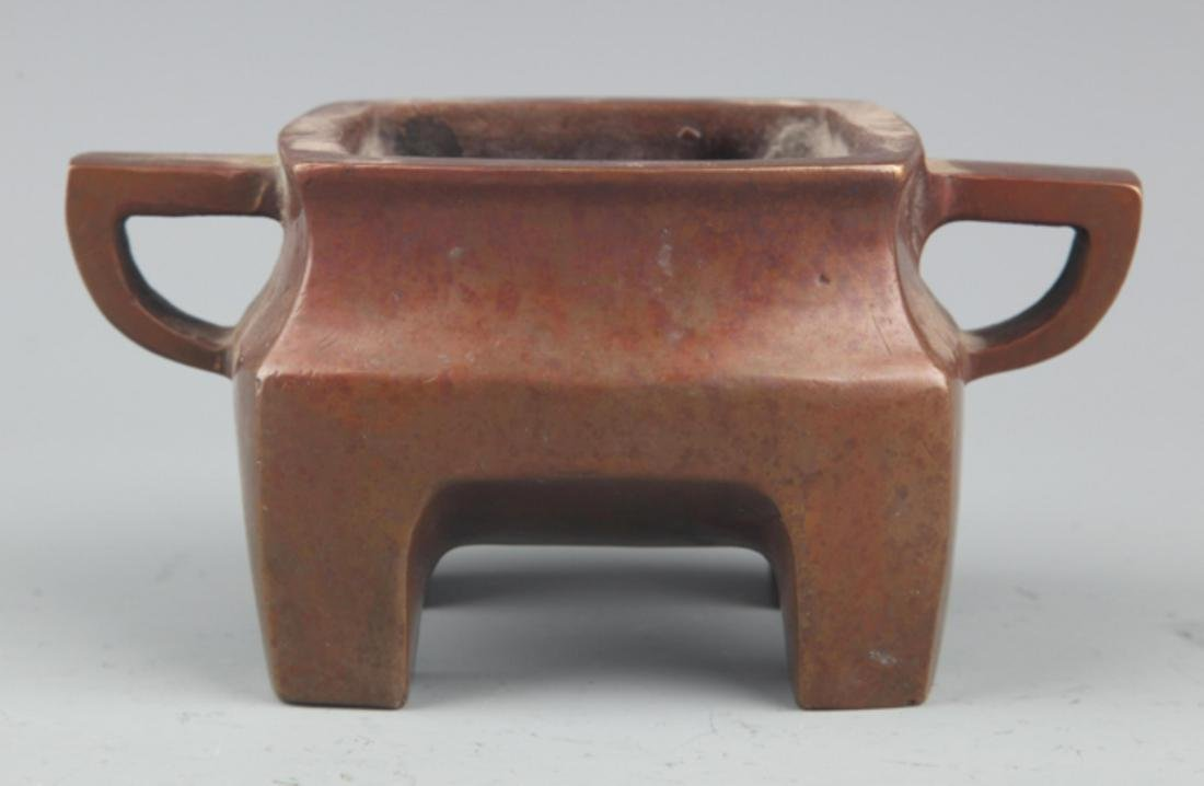 A FINE COPPER MADE DOUBLE EAR CENSER