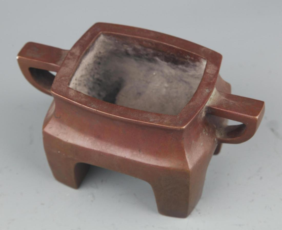 A FINE COPPER MADE DOUBLE EAR CENSER - 2
