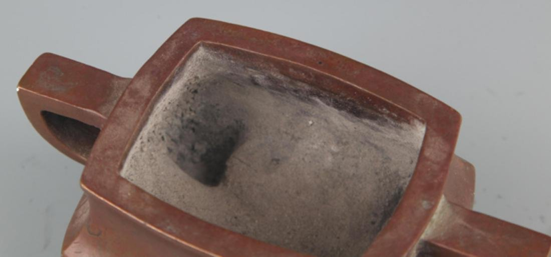 A FINE COPPER MADE DOUBLE EAR CENSER - 3