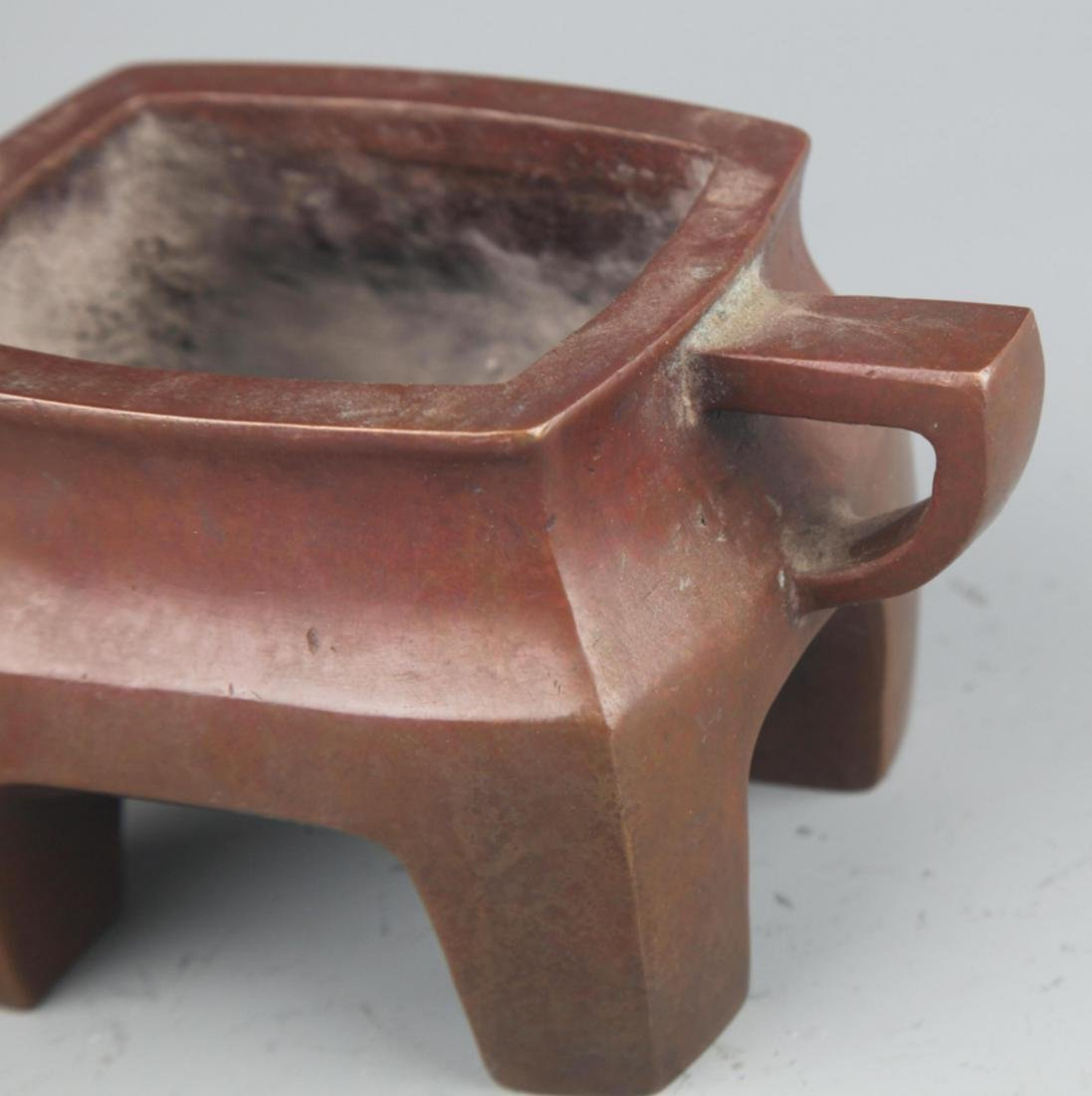 A FINE COPPER MADE DOUBLE EAR CENSER - 4