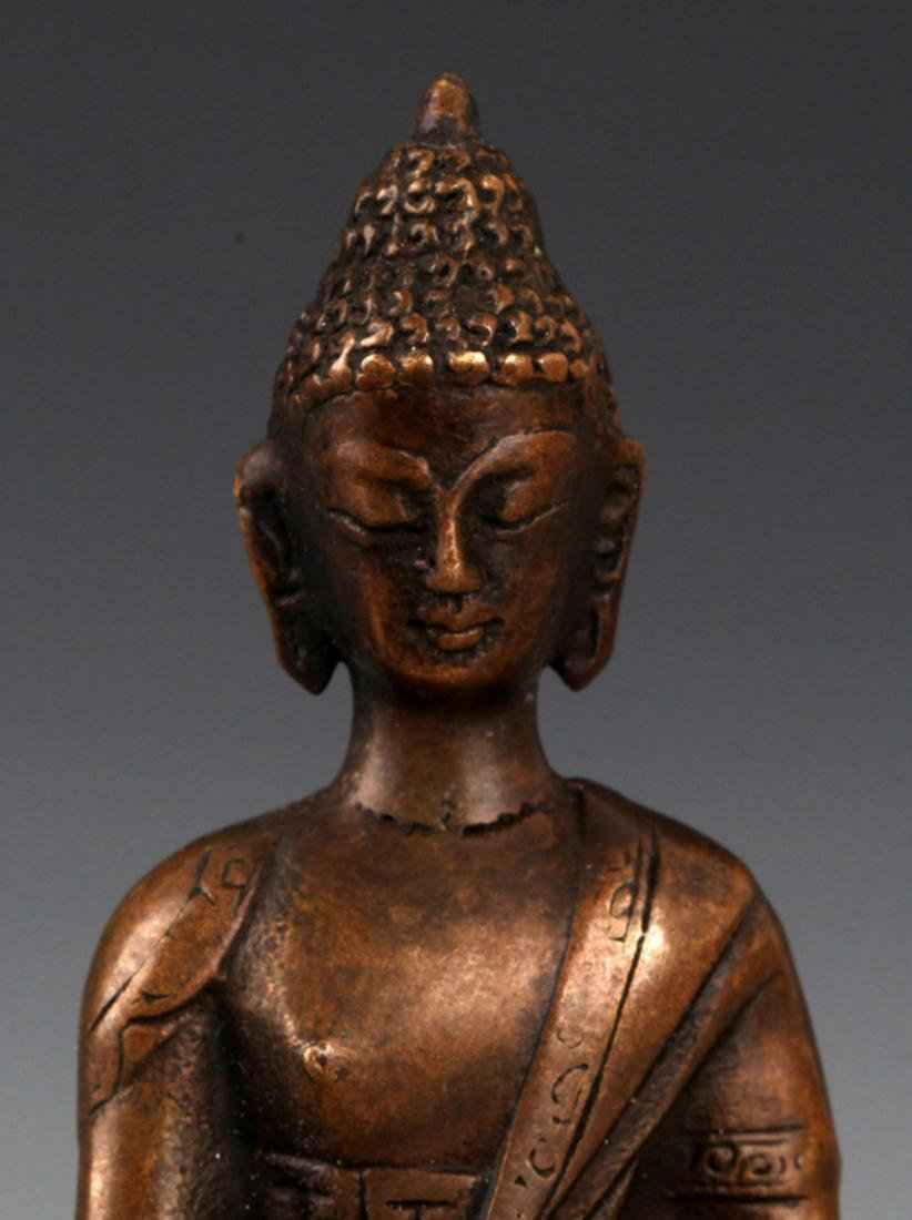 A BRONZE MODEL OF AKSHOBHYA BUDDHA - 2