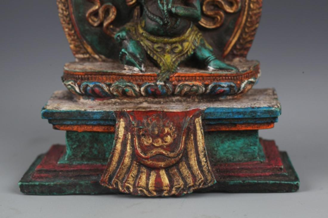 A FINE TURQUOISE MADE TIBETAN BUDDHISM FIGURE - 3