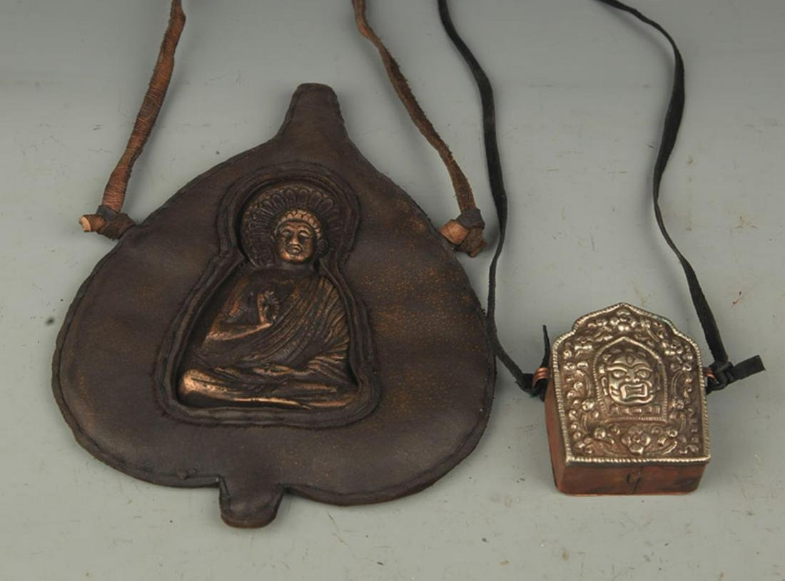GROUP OF TWO TIBETAN BUDDHISM GAWU PENDANT - 2