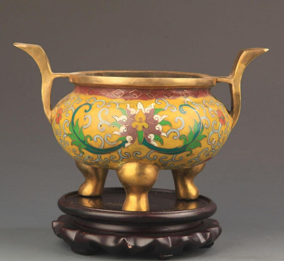 FAIENCE COLOR THREE FOOT STYLE BRONZE AROMATHERAPY