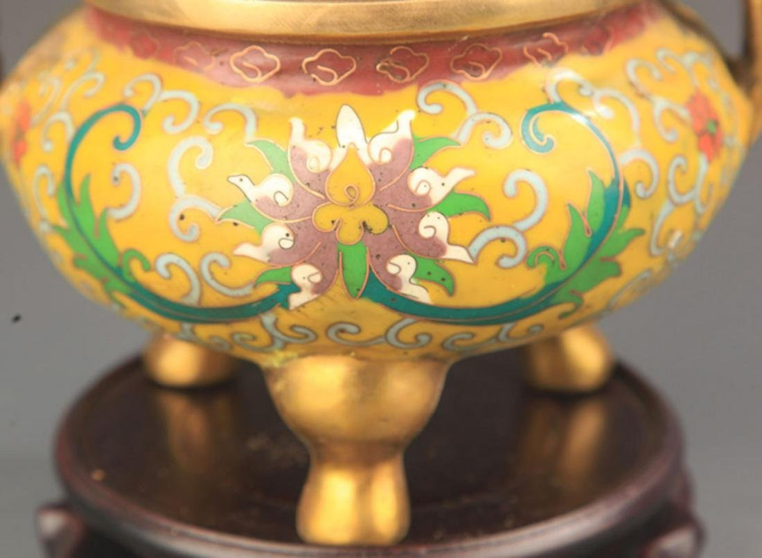FAIENCE COLOR THREE FOOT STYLE BRONZE AROMATHERAPY - 3