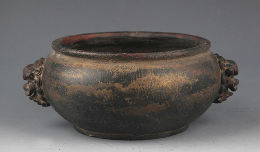 DOUBLE EAR BRONZE CENSER