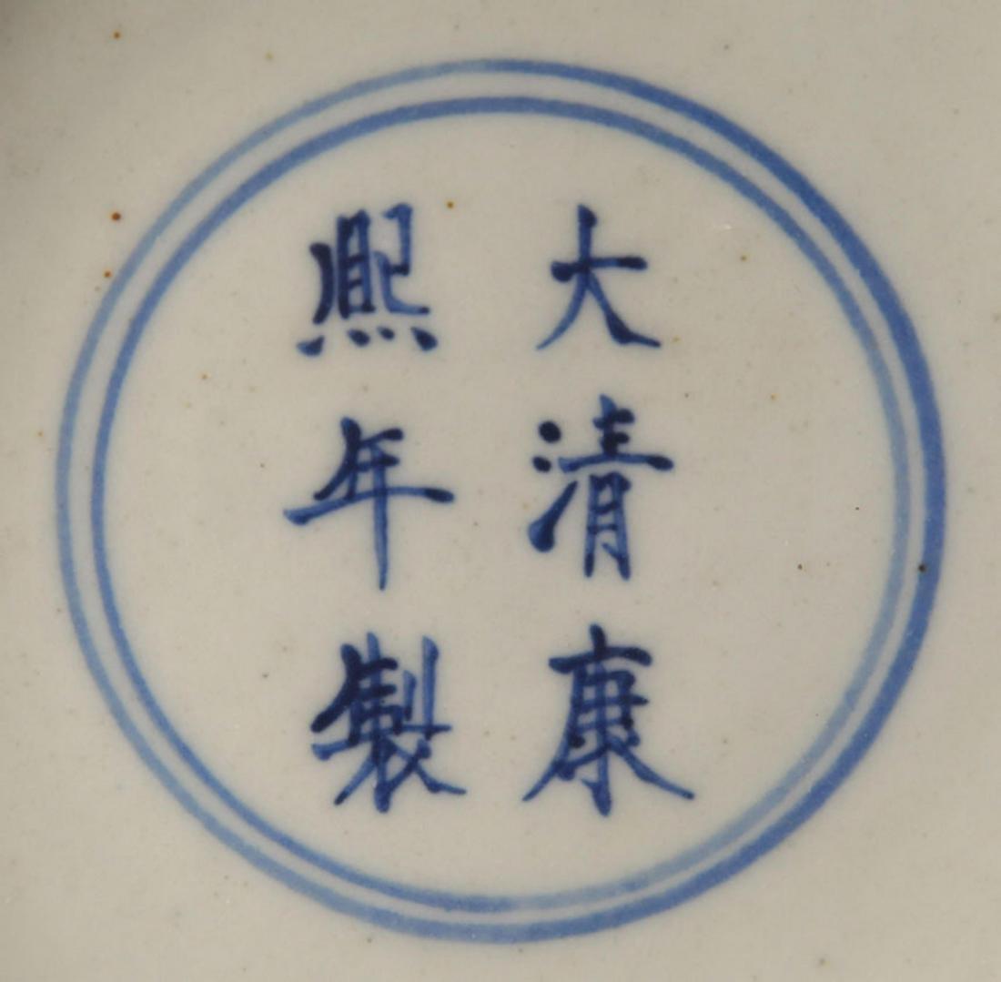 A YELLOW GLAZED FAMILLE-VERTE GUAN YIN BOTTLE - 4