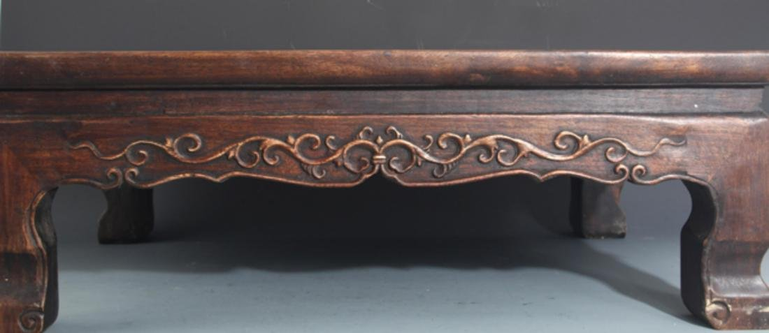 A FINELY CARVED REDWOOD BED-TABLE - 2