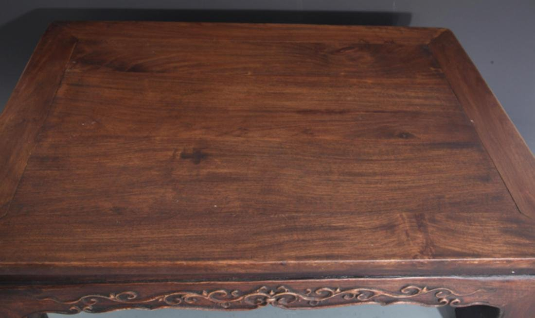 A FINELY CARVED REDWOOD BED-TABLE - 4