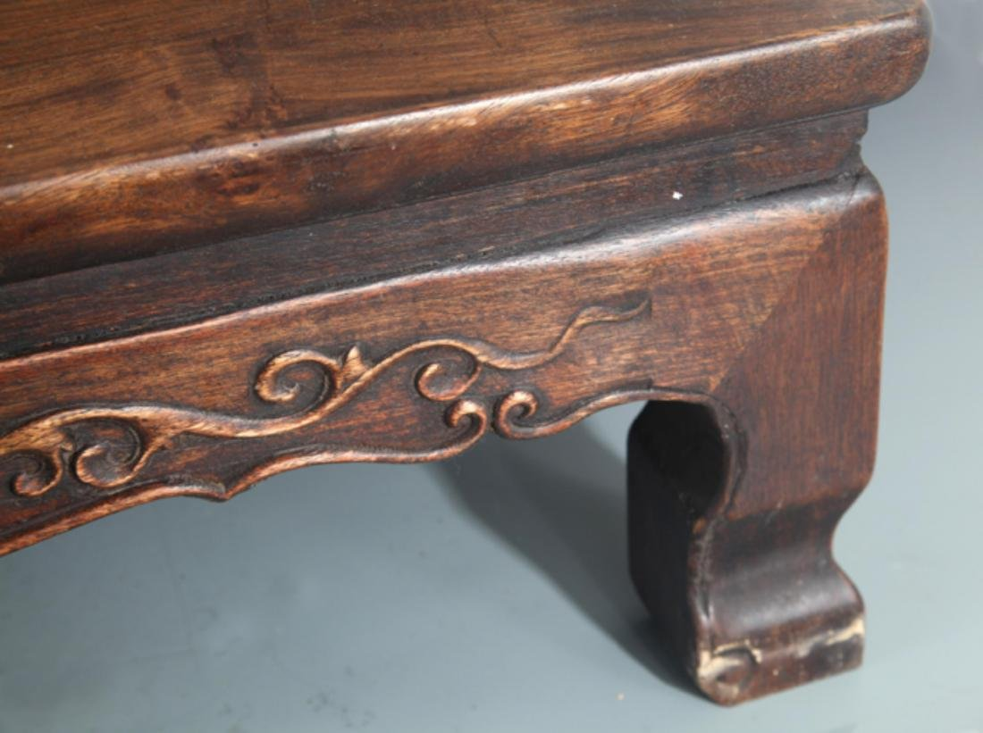 A FINELY CARVED REDWOOD BED-TABLE - 5