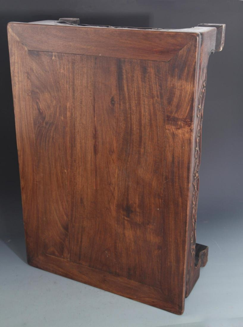 A FINELY CARVED REDWOOD BED-TABLE - 6